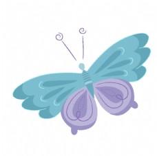 彩蝶矢量图