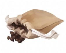 棉布咖啡袋手绘插画