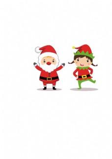 圣诞娃娃矢量图