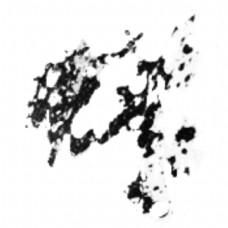 黑色泼墨装饰效果图