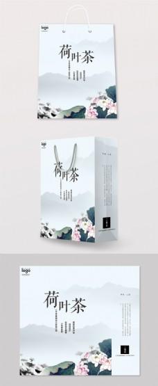 简约大气中国风茶手提袋