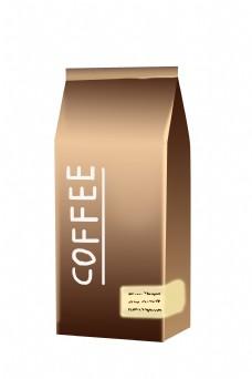 精美咖啡豆袋子插画