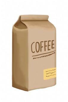 黄色的咖啡豆纸袋